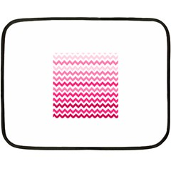 Pink Gradient Chevron Large Fleece Blanket (Mini)
