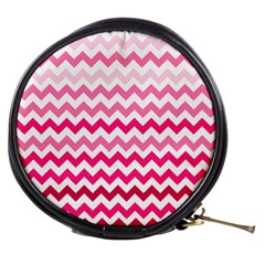 Pink Gradient Chevron Large Mini Makeup Bags