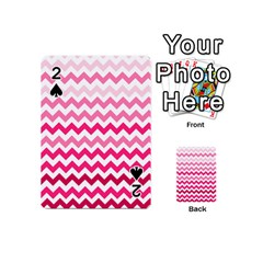 Pink Gradient Chevron Large Playing Cards 54 (Mini)
