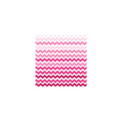 Pink Gradient Chevron Large Shower Curtain 48  x 72  (Small)