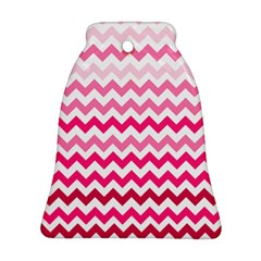 Pink Gradient Chevron Large Bell Ornament (2 Sides)