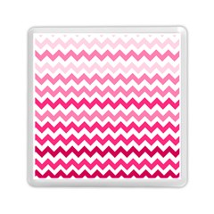 Pink Gradient Chevron Large Memory Card Reader (square)