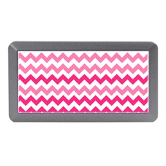 Pink Gradient Chevron Large Memory Card Reader (Mini)