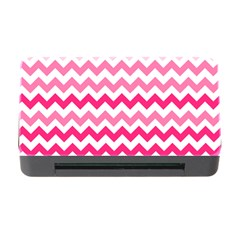 Pink Gradient Chevron Large Memory Card Reader with CF