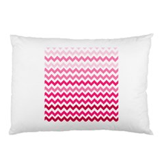 Pink Gradient Chevron Large Pillow Cases (Two Sides)