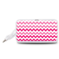 Pink Gradient Chevron Large Portable Speaker (White)