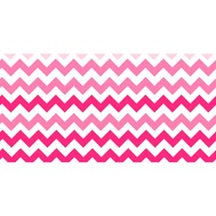 Pink Gradient Chevron Large YOU ARE INVITED 3D Greeting Card (8x4)