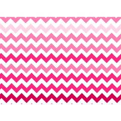 Pink Gradient Chevron Large Birthday Cake 3D Greeting Card (7x5)
