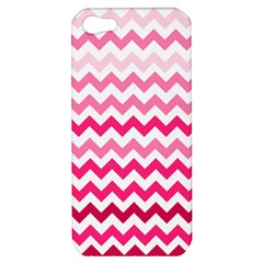 Pink Gradient Chevron Large Apple iPhone 5 Hardshell Case