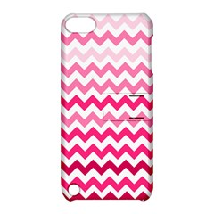 Pink Gradient Chevron Large Apple iPod Touch 5 Hardshell Case with Stand