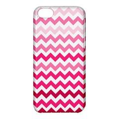 Pink Gradient Chevron Large Apple iPhone 5C Hardshell Case