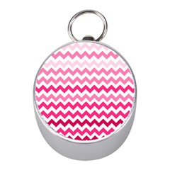 Pink Gradient Chevron Large Mini Silver Compasses