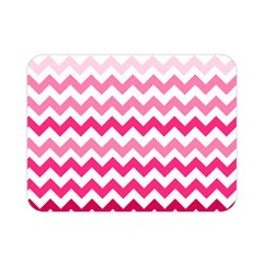 Pink Gradient Chevron Large Double Sided Flano Blanket (mini)