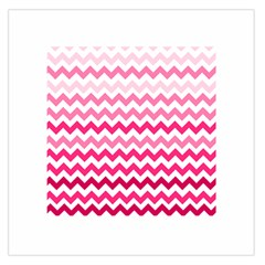 Pink Gradient Chevron Large Large Satin Scarf (Square)