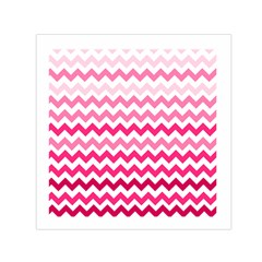 Pink Gradient Chevron Large Small Satin Scarf (Square)
