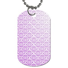 Purple Damask Gradient Dog Tag (One Side)