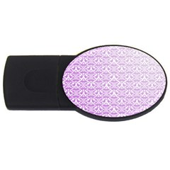 Purple Damask Gradient USB Flash Drive Oval (1 GB)