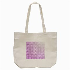 Purple Damask Gradient Tote Bag (Cream)