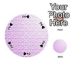 Purple Damask Gradient Playing Cards 54 (Round)