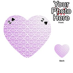Purple Damask Gradient Playing Cards 54 (Heart)