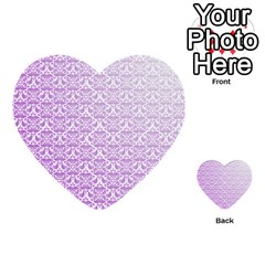 Purple Damask Gradient Multi-purpose Cards (Heart)
