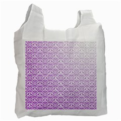 Purple Damask Gradient Recycle Bag (Two Side)