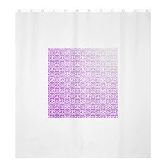 Purple Damask Gradient Shower Curtain 66  X 72  (large)