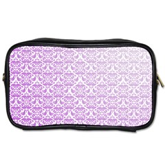 Purple Damask Gradient Toiletries Bags