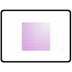 Purple Damask Gradient Fleece Blanket (Large)