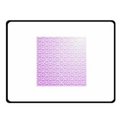 Purple Damask Gradient Fleece Blanket (small)
