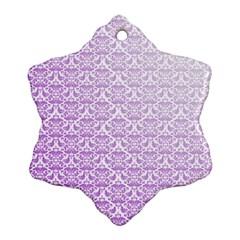 Purple Damask Gradient Ornament (Snowflake)