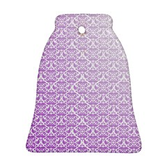 Purple Damask Gradient Ornament (Bell)