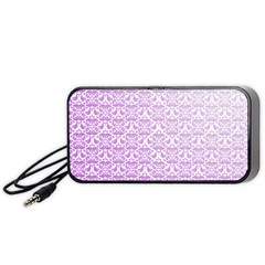 Purple Damask Gradient Portable Speaker (Black)