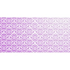 Purple Damask Gradient You Are Invited 3d Greeting Card (8x4)