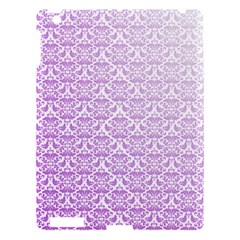 Purple Damask Gradient Apple iPad 3/4 Hardshell Case