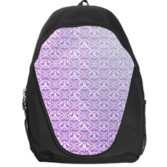 Purple Damask Gradient Backpack Bag
