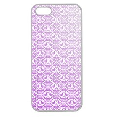 Purple Damask Gradient Apple Seamless iPhone 5 Case (Clear)