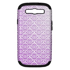 Purple Damask Gradient Samsung Galaxy S III Hardshell Case (PC+Silicone)