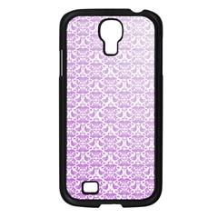 Purple Damask Gradient Samsung Galaxy S4 I9500/ I9505 Case (Black)