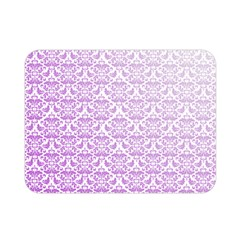 Purple Damask Gradient Double Sided Flano Blanket (Mini)