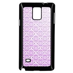 Purple Damask Gradient Samsung Galaxy Note 4 Case (black)