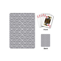 Gray Damask Playing Cards (Mini)