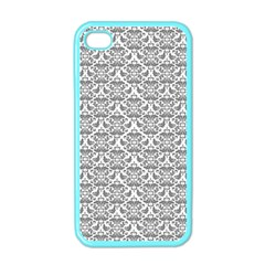 Gray Damask Apple iPhone 4 Case (Color)