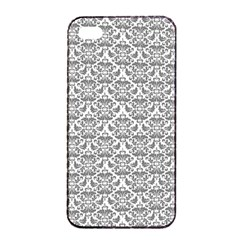 Gray Damask Apple Iphone 4/4s Seamless Case (black)