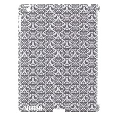 Gray Damask Apple iPad 3/4 Hardshell Case (Compatible with Smart Cover)