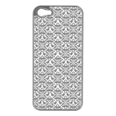 Gray Damask Apple Iphone 5 Case (silver)