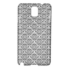 Gray Damask Samsung Galaxy Note 3 N9005 Hardshell Case