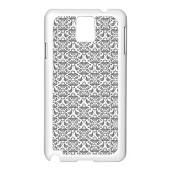 Gray Damask Samsung Galaxy Note 3 N9005 Case (White)