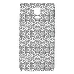 Gray Damask Galaxy Note 4 Back Case