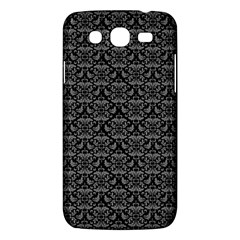Silver Damask With Black Background Samsung Galaxy Mega 5.8 I9152 Hardshell Case